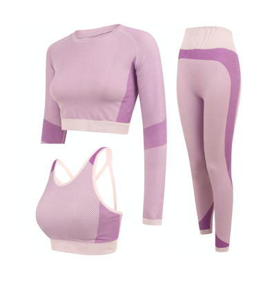Picture of Light Pink & Purple Workout Set